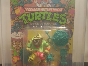 1990 Playmates TMNT 37 Back  AFA Graded 70EX+ Mutagen Man Unpunched