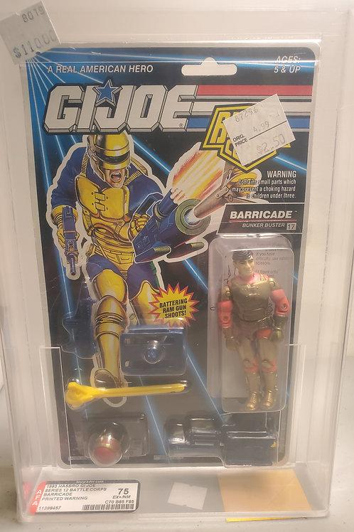 1993 G.I Joe Series 12 Barricade 75EX+NM AFA Graded