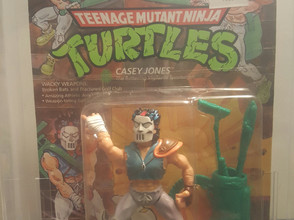 1989 Playmates TMNT 19 Back  AFA Graded 80NM Casey Jones Unpunched