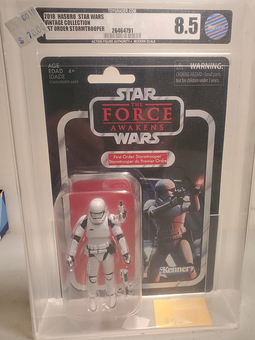 2018 Star Wars Vintage Collection VC118 First Order Stormtrooper 8.5 AFA