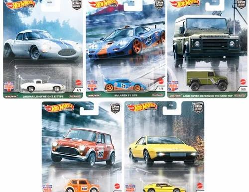 Hot Wheels Car Culture British Mix 1 Vehicle Case