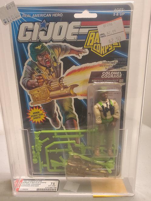 1993 G.I Joe Series 12 Colonel Courage 75EX+NM AFA Graded