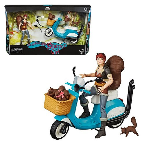 Marvel Legends The Unbeatable Squirrel Girl 6-Inch Action Figure with Vespa Vehi