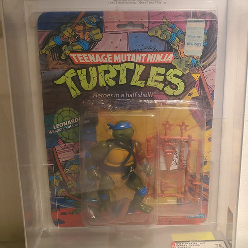 1988 Playmates TMNT Series 1/ 10 Back Leonardo Soft Head Fan Club 75NM+