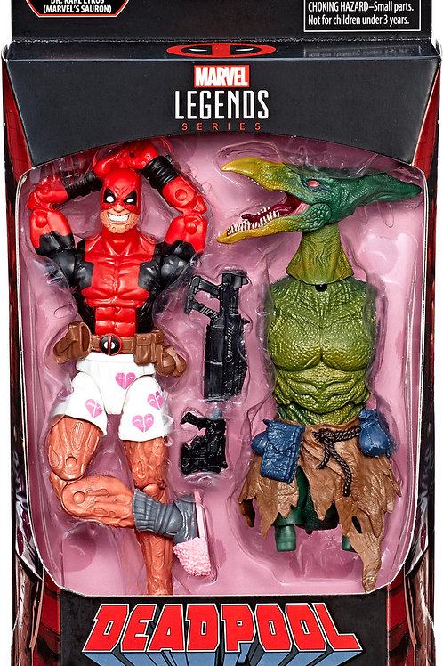 "Deadpool Marvel Legends 6-Inch Wave 2  Deadpool in Boxers  ""Sauron BAF"""