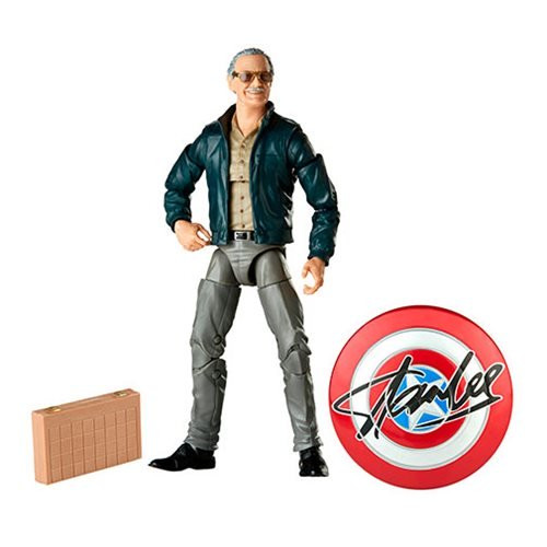 Marvel Legends Stan Lee 6-Inch Action Figure: Inspired by Stan Lee's cameo as a skeptical chess player in Marvel's The Avengers, this Marvel Legends Stan Lee 6-Inch Action Figure includes a briefcast and Captain America shield with a replica of Stan's autograph.