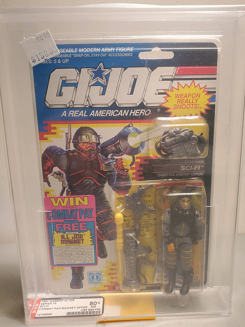 1991G.I Joe Series 10 Sci-Fi 80+NM AFA Graded