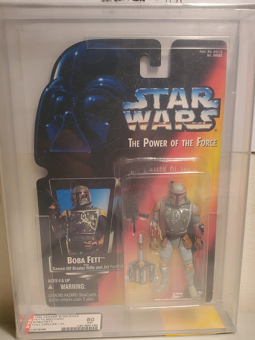 1996 Kenner POTF2 Red Card Boba Fett AFA Graded 80NM