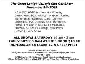 New Vendor For Slot Car and Toy Car Show