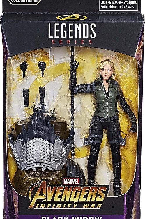"Marvel Legends Avengers Infinity War Black Widow with  Cull  Obsidian ""BAF"