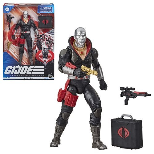 CONTACT US      Monday - Friday: 7:30am - 5:30pm  Pacific Time EE Distribution: 1-818-255-0095 Fax: 1-818-255-0091 E-mail:  sales@eedistribution.com        Home >> Hasbro >> G.I. Joe >> Action Figures   Direct Link: http://eed.co/?l=E6vycb2k1 G.I. Joe Classified Series 6-Inch Destro Action Figure    Coming in June 2020 (details) Pre-Order now and we'll deliver in June 2020 (estimated date / subject to change). Item Number: HSE8492 This item cannot ship to certain locations outside the United States.    Pieces Per Case: 6   Order Piece Quantity:    Add to Wish List E-Mail Reminders   See All Hasbro G.I. Joe Merchandise See All G.I. Joe Action Figures See All Hasbro Action Figures See All G.I. Joe Items See All Hasbro Products See All Action Figures   Case Quantity Total Pieces Price Per Piece  Price Per Case  1-4   6-24    $16.80     $100.80   5+   30+    $15.60     $93.60  G.I. Joe Classified Series 6-Inch Destro Action Figure: Yo Joe!  A Real American Hero returns for the 21st century!  Super-articulated Destro figure with accessories.  The legendary action figure makes its 6-inch debut!  The classic is back at 6-inches with this G.I. Joe Classified Series 6-Inch Destro Action Figure. You'll marvel at this legendary action figure making its 6-inch debut, ready to sell weapons and generally cause problems for the Joes. With the most realistic interpretations of the figure yet, you'll love the modernized take on one of the most popular figure lines of all time! Includes accessories.