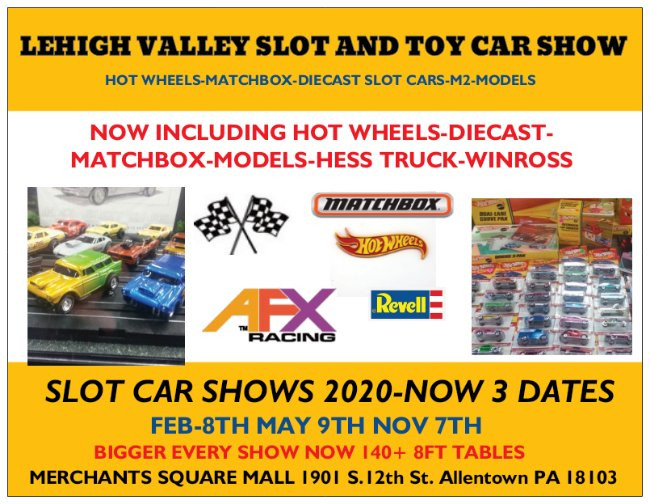 Allentown Slot Car-Diecast-Hot Wheels-Model-Nascar-Matchbox-Toy car Show