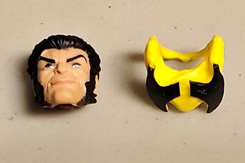 Marvel Legends X-Men 3 Pack Series: Wolverine Un Masked Head Sculpt Piece ON