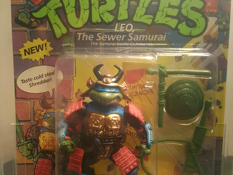 1991 Playmates TMNT 44  Back  AFA Graded 80NM Leo The Sewer Samurai