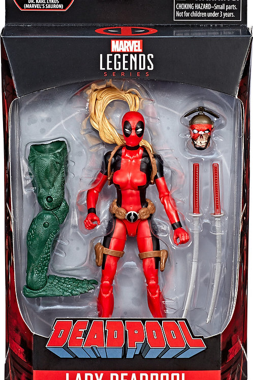 "Deadpool Marvel Legends 6-Inch Wave 2  Lady Deadpool""Sauron BAF"""