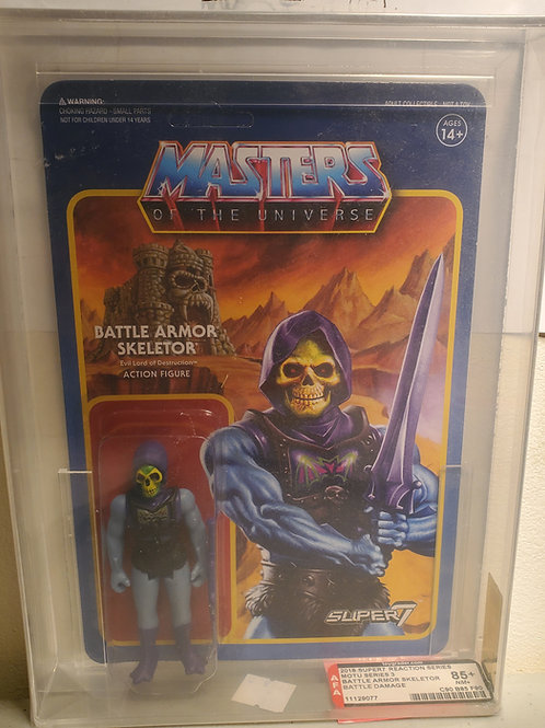 2018 Masters Of The Universe Super 7 Battle Armor Skeletor AFA Graded