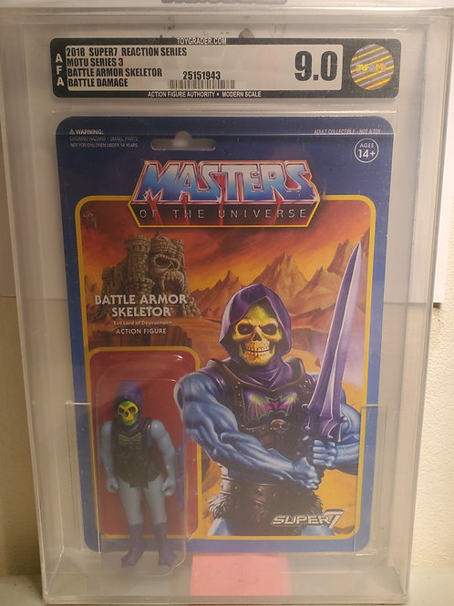 2018 Masters Of The Universe Super 7 Battle Armor Skeletor AFA Graded