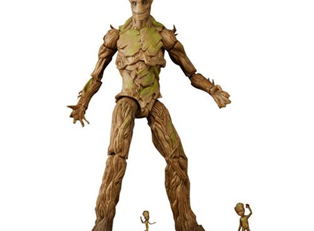 Guardians of the Galaxy Marvel Legends Groot Evolution Action Figures Set - Exclusive
