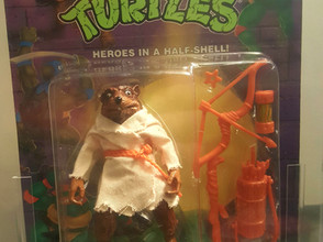 1995 Playmates TMNT 82 Back  AFA Graded 80NM Movie Star Splinter