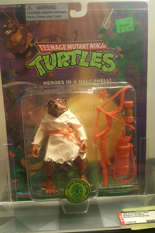 1995 Playmates TMNT 82 Back  AFA Graded 80NM Movie Star Splinter