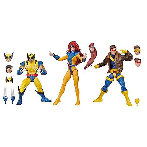 Marvel Legends X-Men Jean Grey, Cyclops, and Wolverine 6-Inch Figure 3-Pack