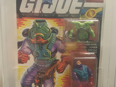 1992 Funskool GI Joe Toxo - Viper AFA Graded 85NM+ Russian Release