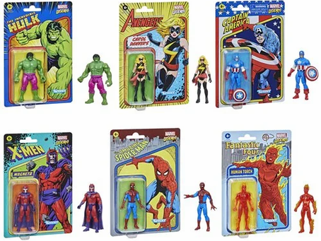 Marvel Legends Retro 375 Collection 3 3/4-Inch Action Figures Wave 1