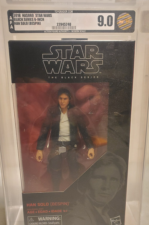 "2018 Star Wars Black Series Han Solo ""Bespin"" #70  AFA Graded"