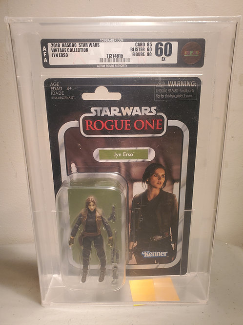 2018 Star Wars Vintage Collection VC119 Jyn Erso 75EX+NM AFA Graded
