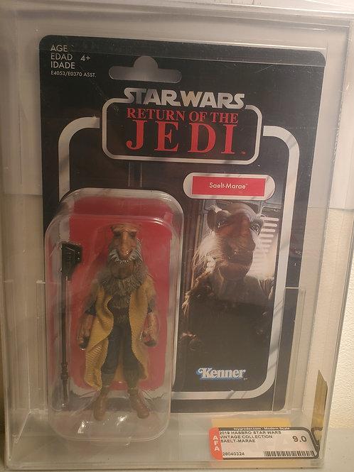2018 Star Wars Vintage Collection VC128 Saelt Marae(Yackface) AFA Graded