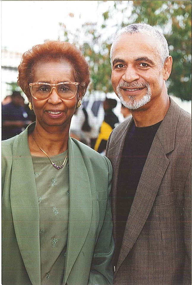 Ron Glass and Myrtle Faye Rumph, Founder of Wooten Center