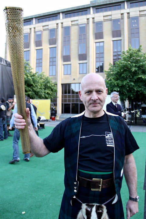 Dave with Olympic torch Edinburgh 2012