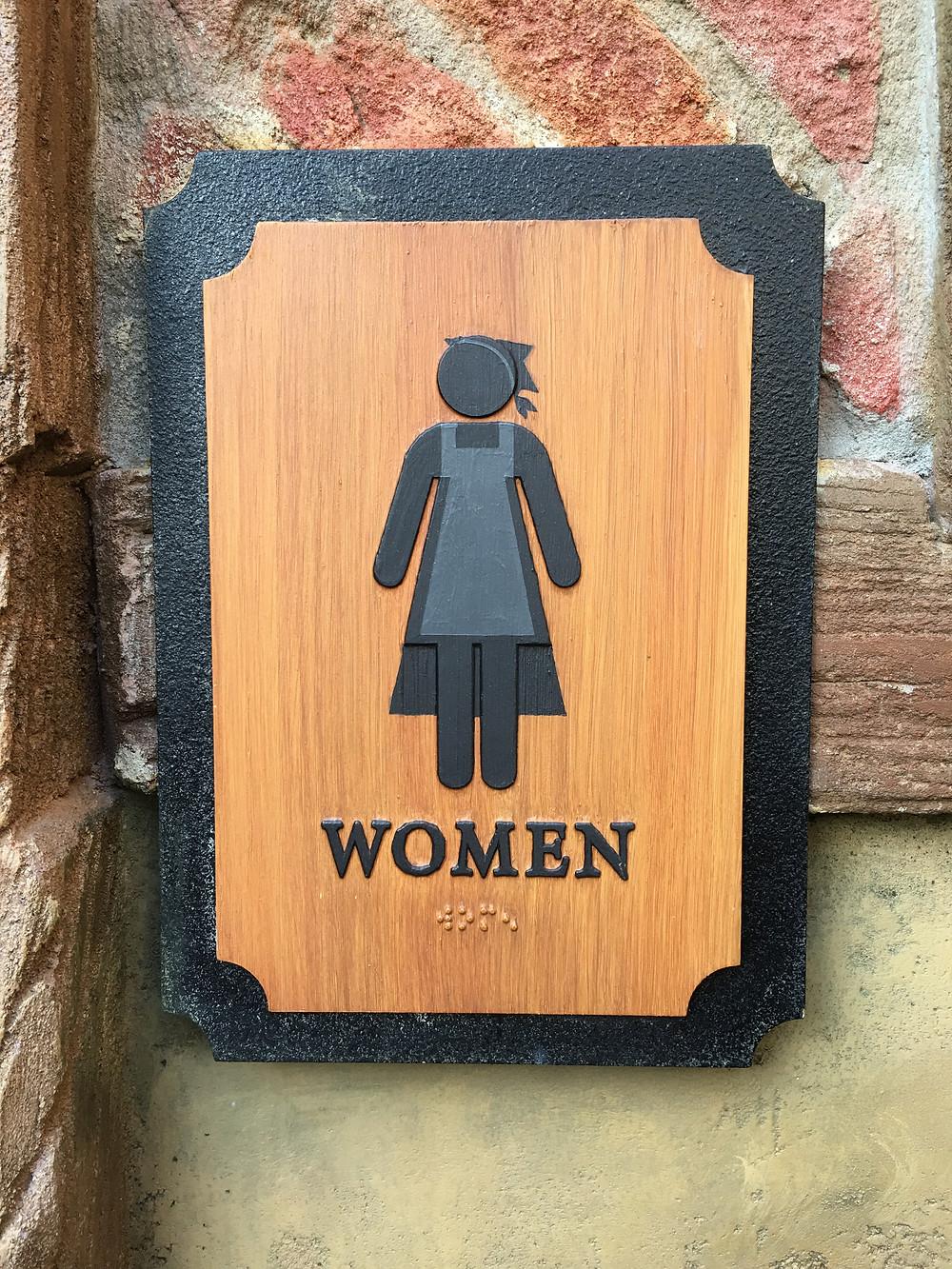 Women's Room Sign, Gaston's Tavern Loo, Magic Kingdom