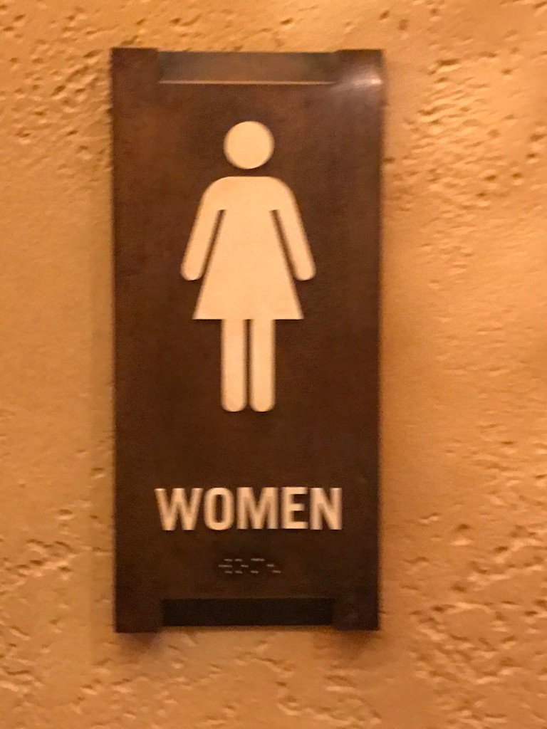 Women's Loo Sign, Tiffins, Animal Kingdom