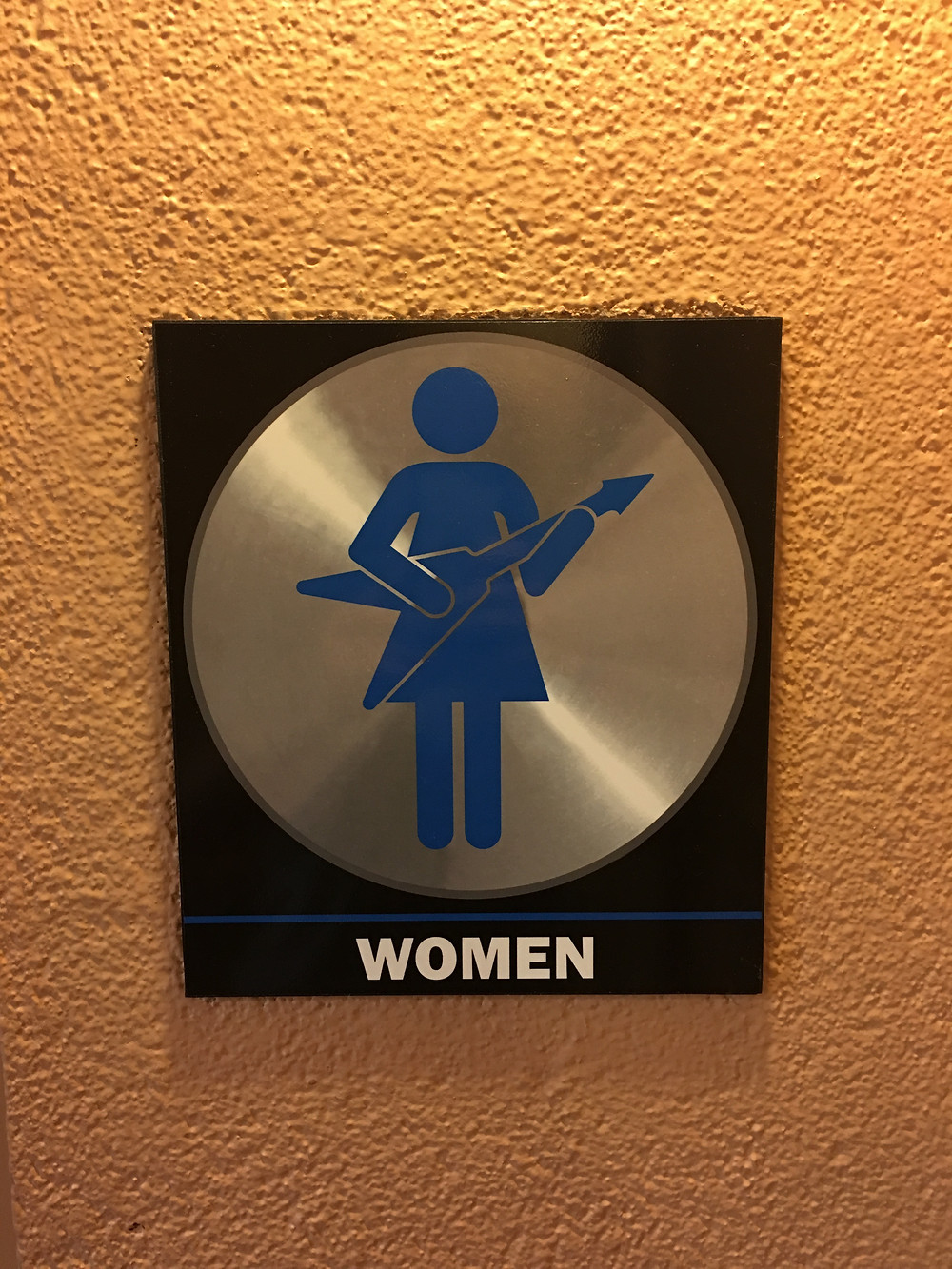 Women's Room Sign at Rock 'n' Roller Coaster Loo
