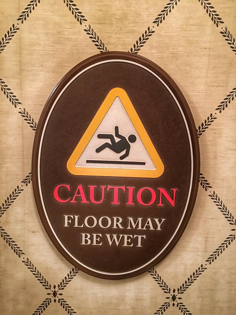 Wet Floor Sign, Restroom, Liberty Tree Tavern