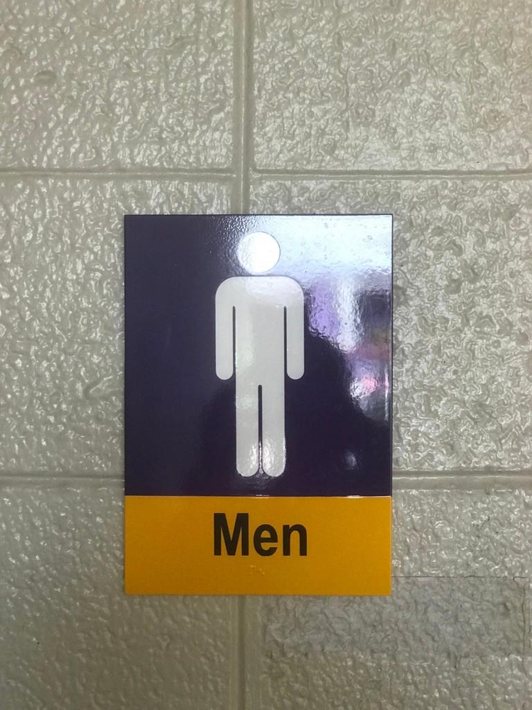 Men's Loo Sign, TTC East Side Loo
