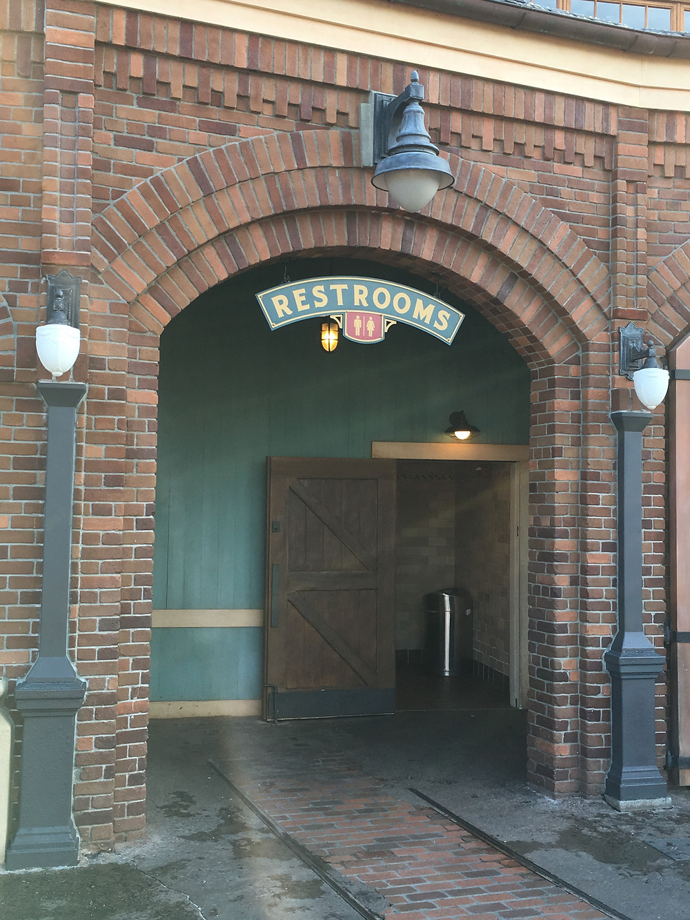 Entrance to Storybook Circus Restrooms