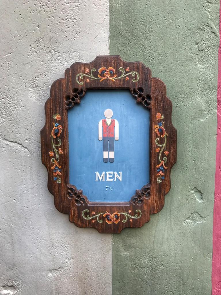 Men's Restroom Sign, Norway Pavilion, Epcot
