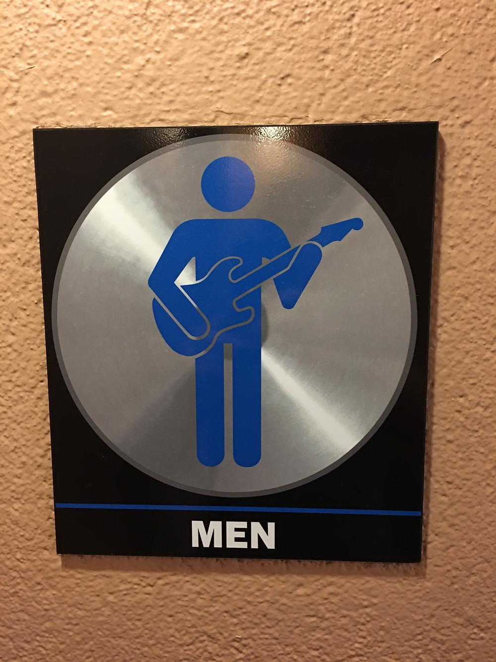 Men's Room Sign at Rock 'n' Roller Coaster Loo