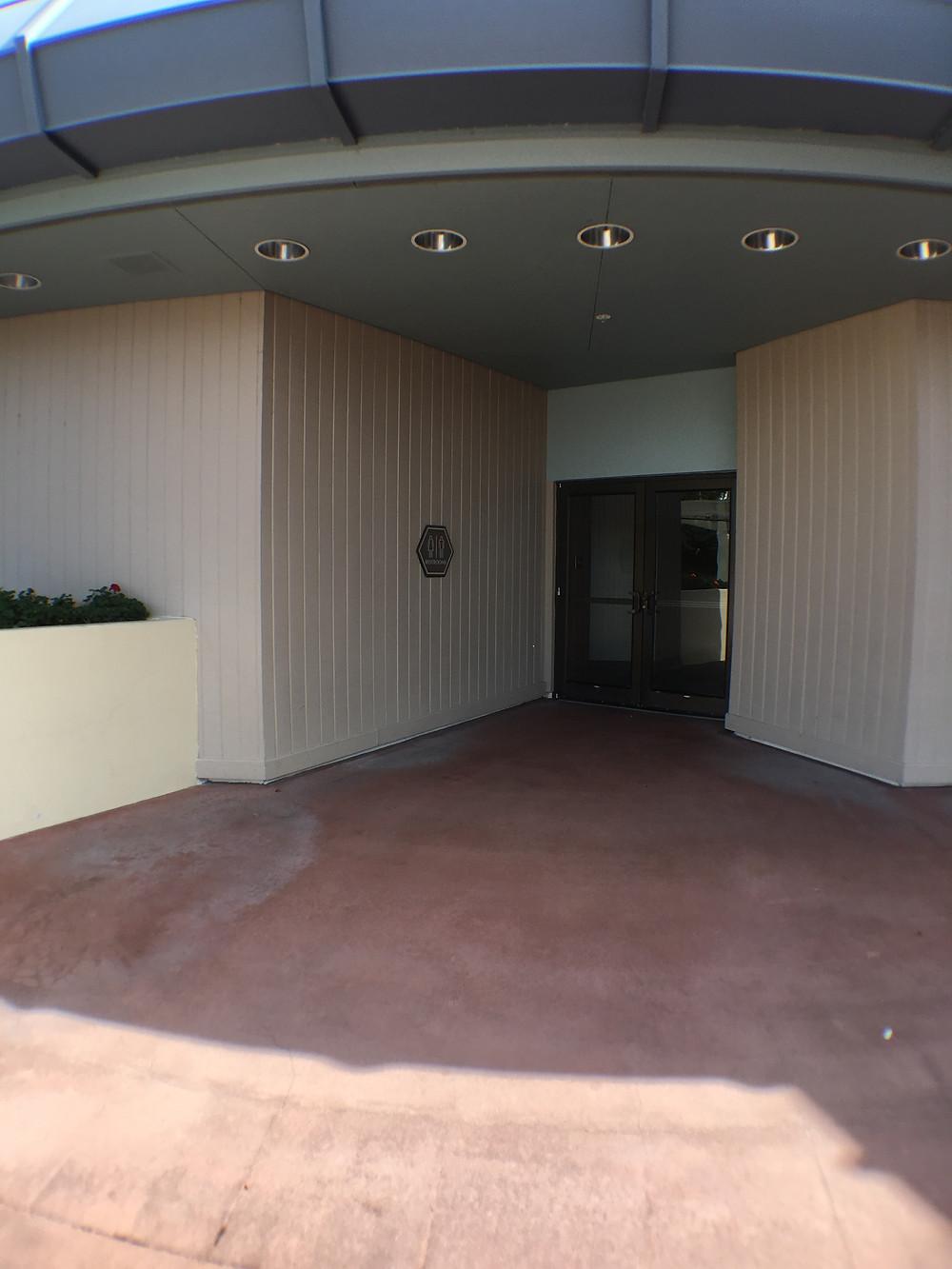 Entrance to Odyssey Center Epcot