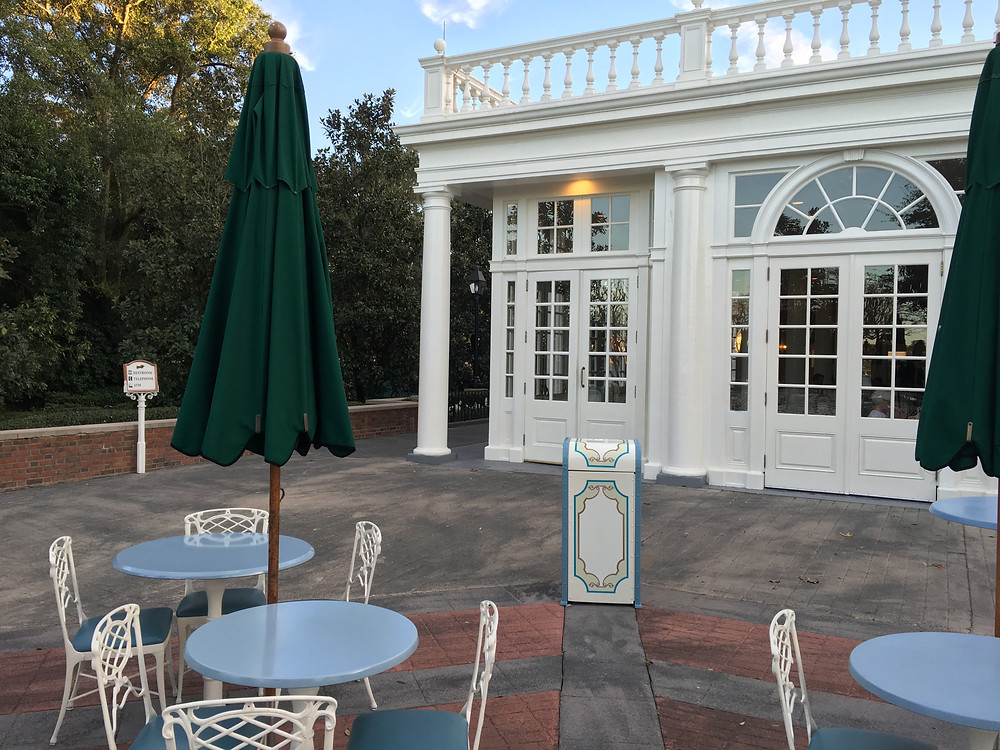 Dining Courtyard in Front of Liberty Inn Epcot