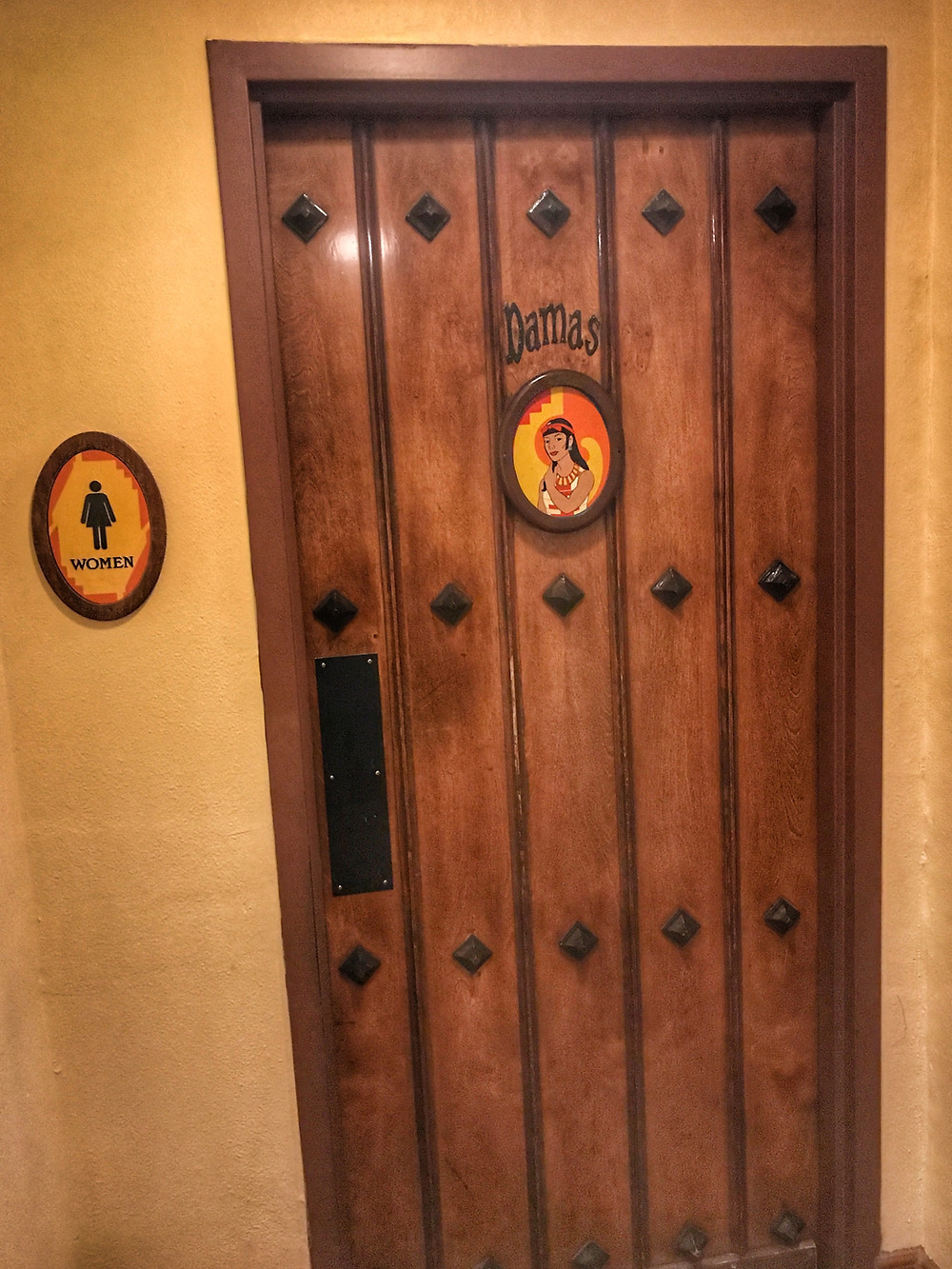 Women's Restroom Exterior, San Angel Inn Restaurante, Epcot