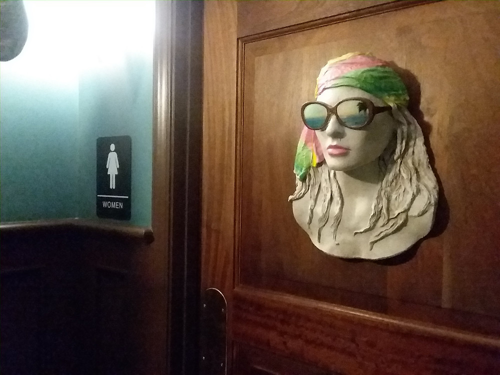 Bust on Women's Loo Door, The Boathouse