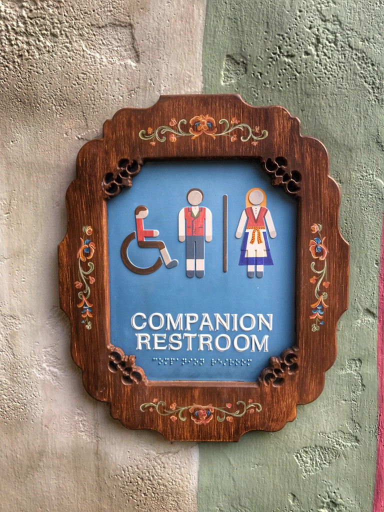 Companion Restroom Sign, Norway Pavilion, Epcot