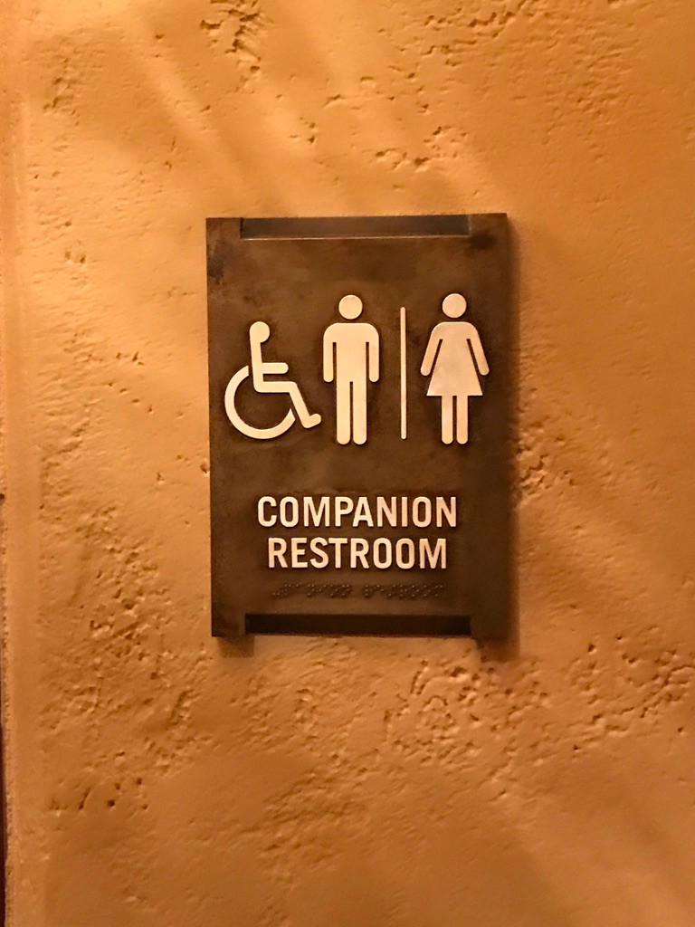 Companion Restroom Sign, Tiffins, Animal Kingdom
