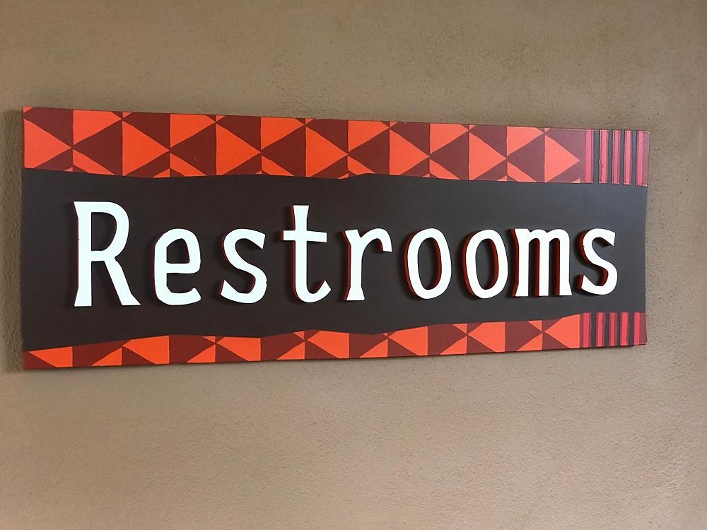 Restroom Sign at Sanaa