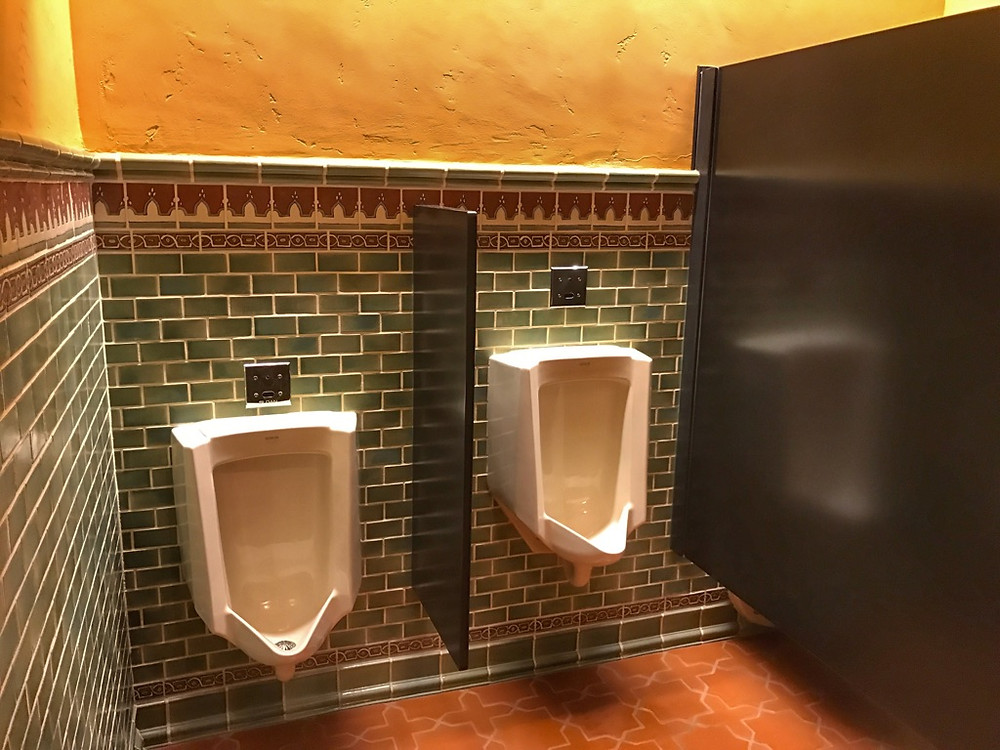 Urinals, Tiffins Restaurant, Animal Kingdom