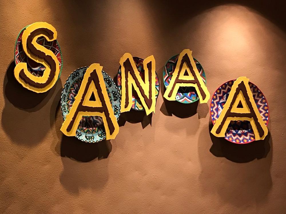Sign Outside of Sanaa