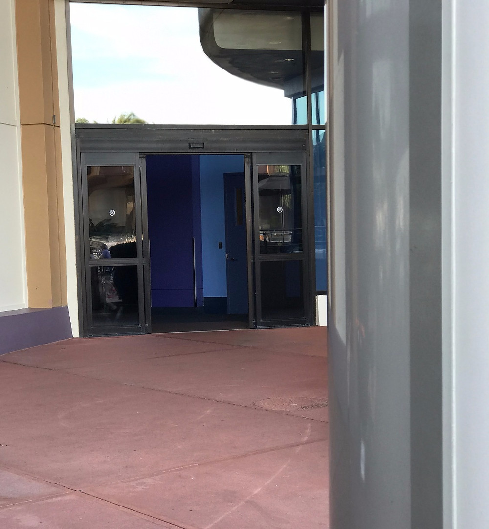 Doors from the Fountain of Nations Courtyard Leading to the Innoventions West Loo
